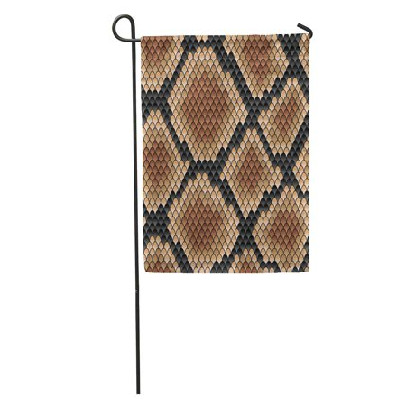 POGLIP Snakeskin Pattern Showing Scale Detail Geometric Diamond Formation in Shades Garden Flag Decorative Flag House Banner 28x40 inch - image 1 of 2