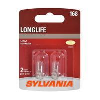 Sylvania 168 Long Life Halogen Automotive Mini Bulb, Pack of 2.