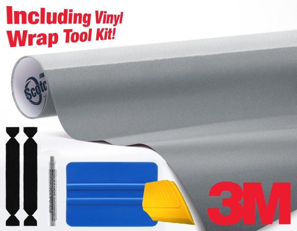 3M 1080 Gloss Black Air-Release Vinyl Wrap Roll Including Toolkit 4ft x 5ft