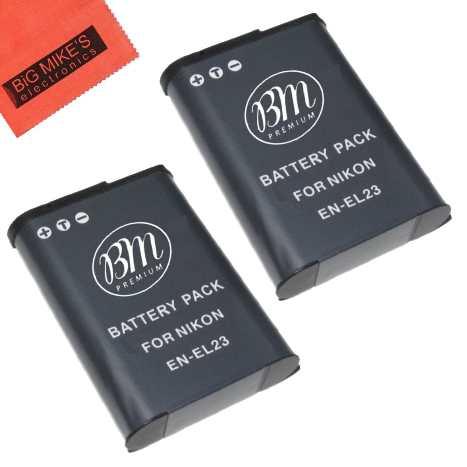 BM Premium 2-Pack EN-EL23 Batteries for Nikon Coolpix B700, P600, P610, P900, S810c Digital Camera