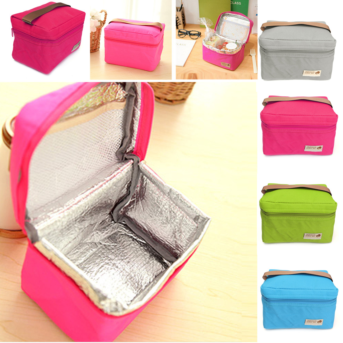 Insulated Waterproof thermal Cooler Picnic Lunch Bag Storage Box Carry Tote