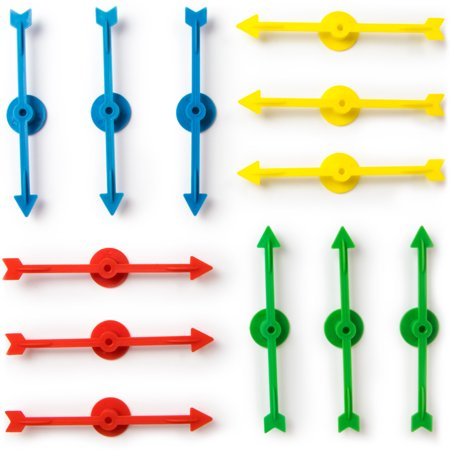 Brybelly 12 Assorted 4-inch Rainbow Arrow Game Spinners in 4 Colors, 3 Arrows Per Color (Halloween 101 Games)