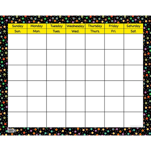 Creative Teaching Press Poppin Patterns Large Calendar
