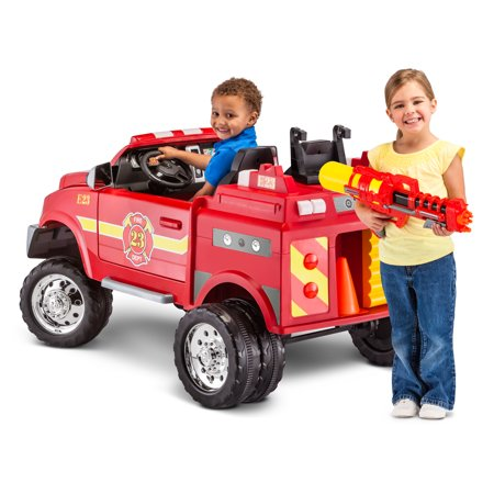 RAM 3500 Fire Truck Ride-On Toy Car by Kid Trax, red