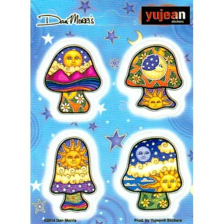 Dan Morris - Mini Mushrooms - Sheet of 4 Stickers /