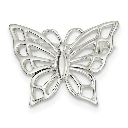 925 Sterling Silver Butterfly -