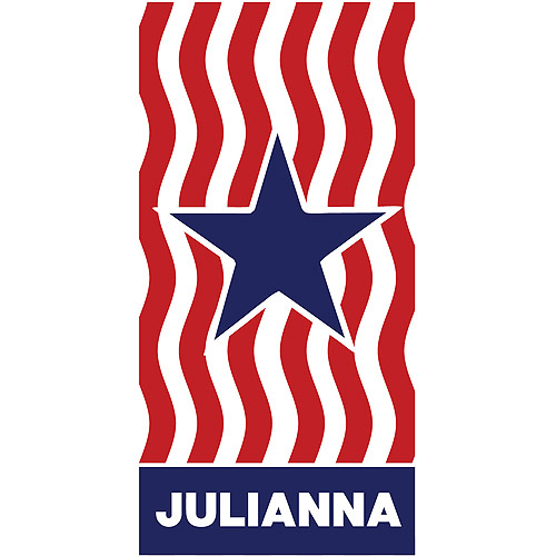 Personalized Stars and Stripes Personalized Beach Towel