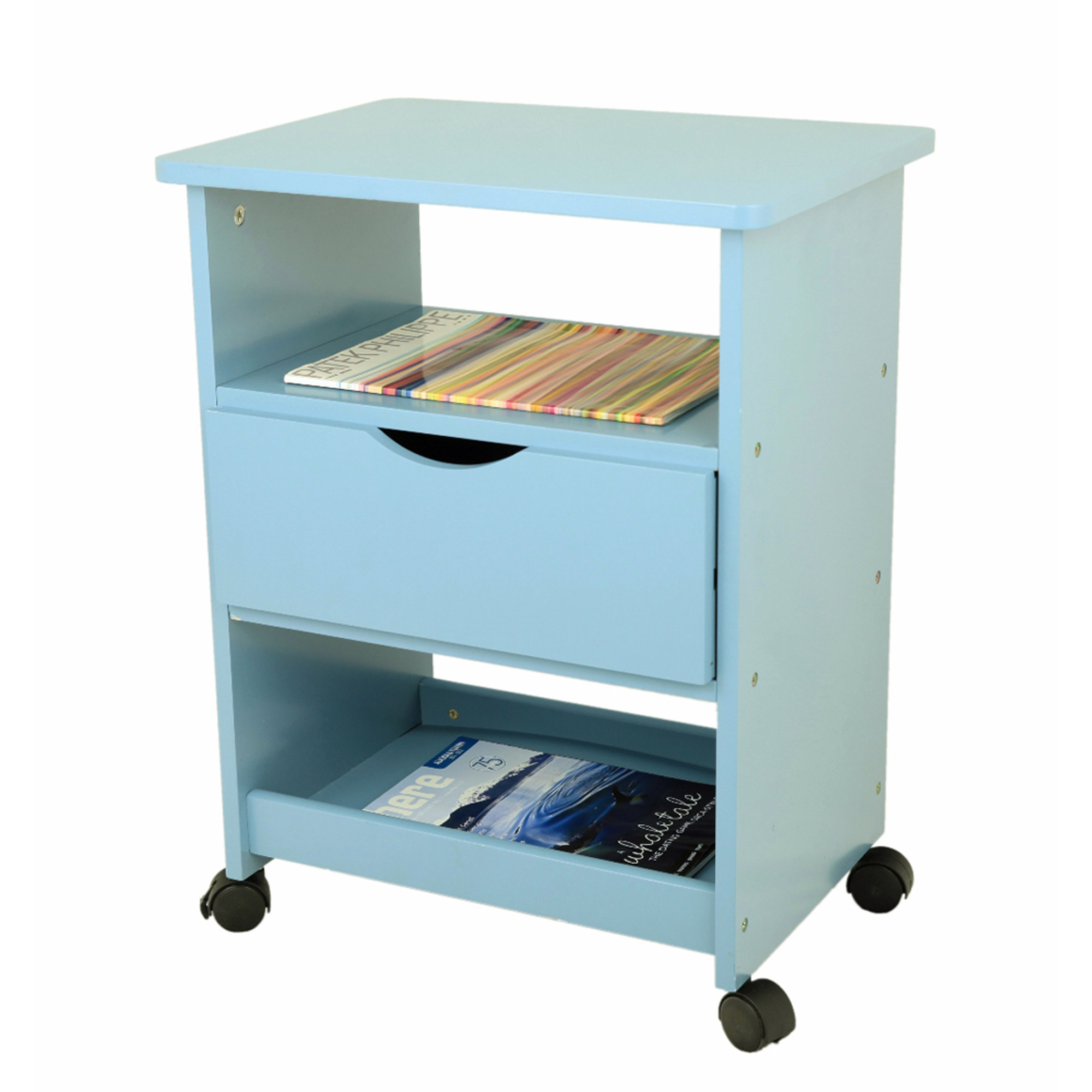 Home Craft Rolling Cart with Drawer, Multiple Colors - Walmart.com