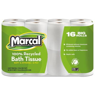 100% Recycled Two-Ply Toilet Tissue MRC1646616PK
