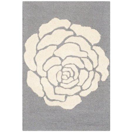 Hand Tufted Wool Rug in Dark Gray