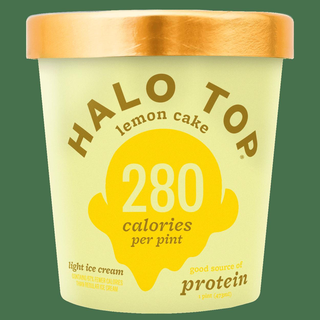 Halo Top Light Ice Cream Lemon Cake 1 Pint