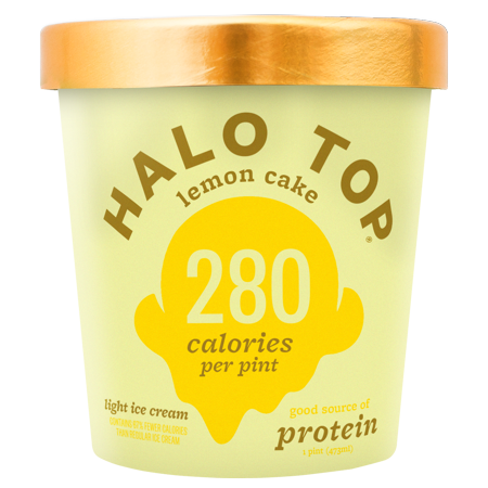 Halo Top Light Ice Cream Lemon Cake 1 Pint