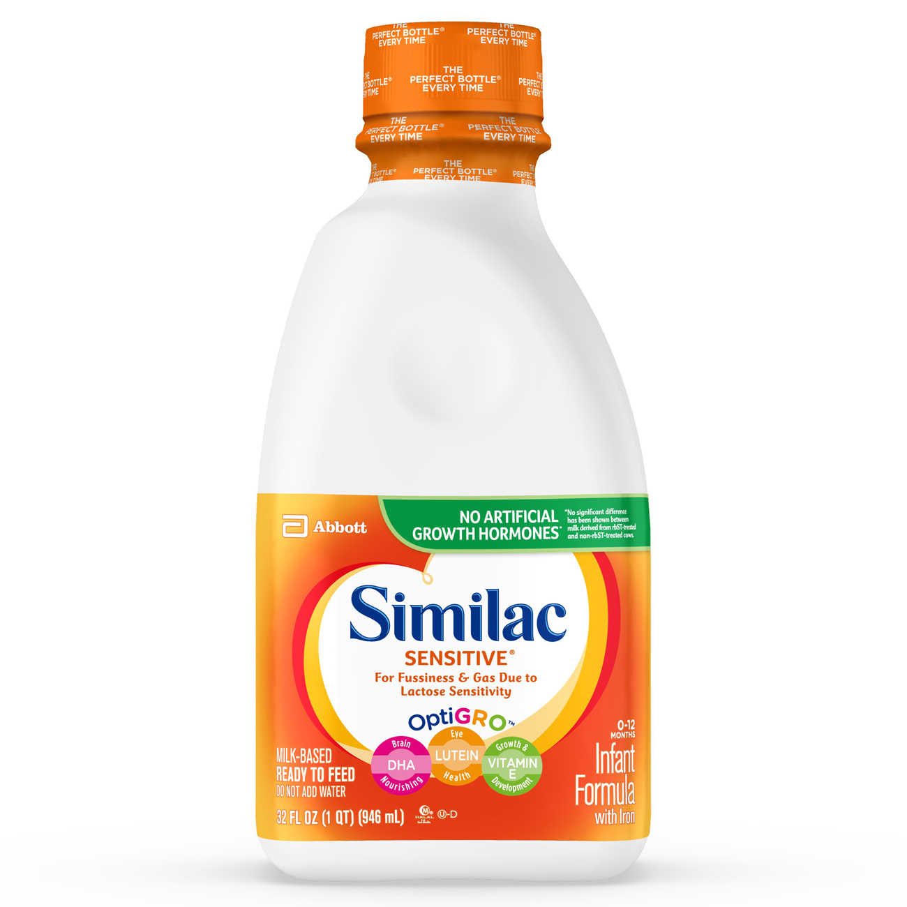 Similac Sensitive Infant Formula with Iron, Ready to Feed, 1 qt