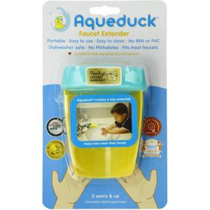 AQUEDUCK FAUCET EXTENDER HELPS KIDS REACH THE FAUCET