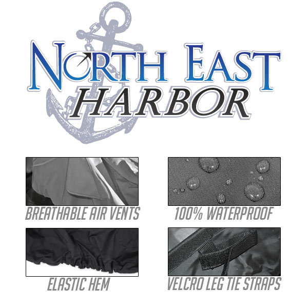 North East Harbor CHAIR-78L 78 x 36 in. Outdoor Patio Chaise Lounge Chair Cover, Dark Grey with Black Hem - image 1 of 3