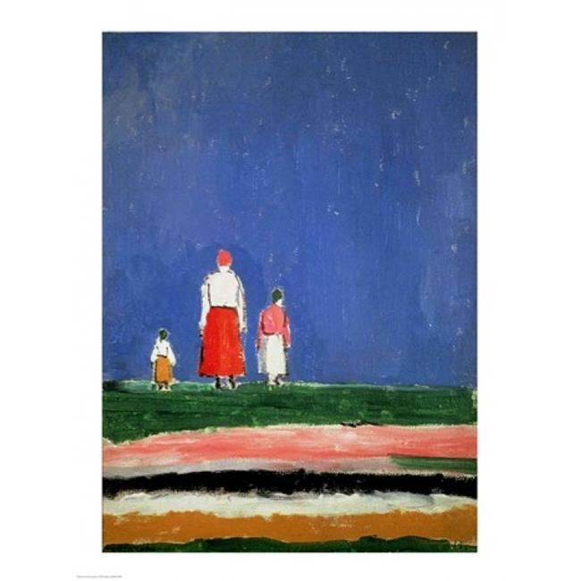Posterazzi BALBAL75857 Three Figures Poster Print by Kazimir Malevich - 18 x 24 in. - image 1 de 1