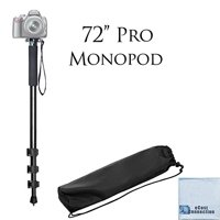 "Pro Series 72"" inch Monopod w/ Quick Release + eCostConnection Microfiber cloth"