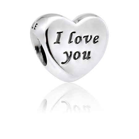 Authentic I Love You Charm in Sterling Silver, 791422