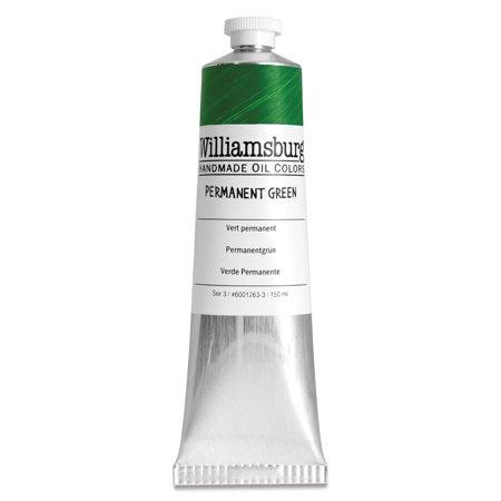 Williamsburg Handmade Oil Paint - Permanent Green, 150 ml tube Bath Williamsburg 2 Light