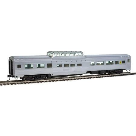 Ho 85' Full Dome - Walthers HO Scale 85' Budd Dome Coach Southern Railway (Silver)