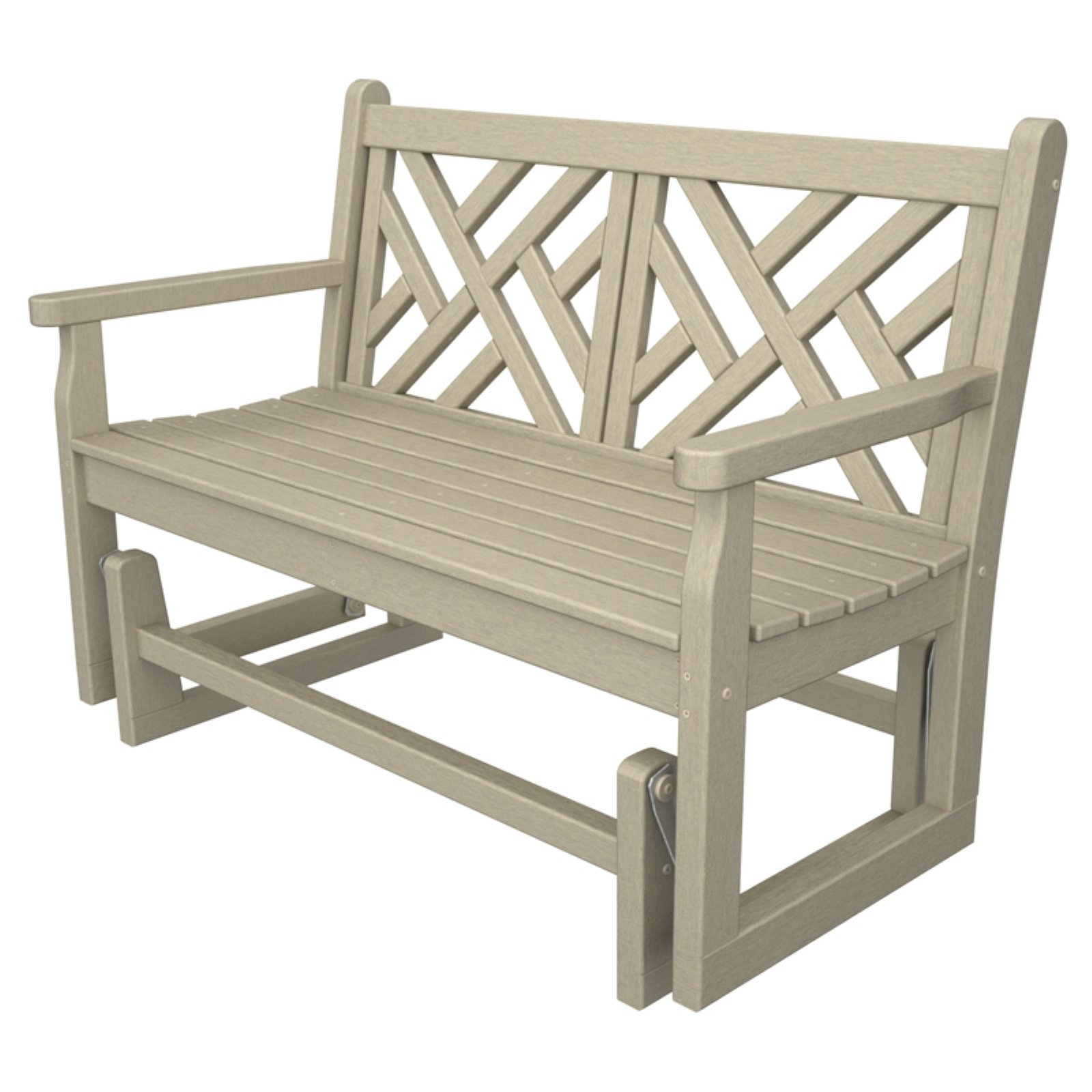 POLYWOOD® Chippendale 4 ft. Recycled Plastic Outdoor Glider Loveseat