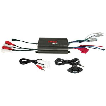 Pyle PLMRMP3B Waterproof Micro Marine Amp Perp 800w 4-channel