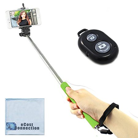 green 43 inch 3 6 39 feet selfie stick bluetooth remote for most smartphones ecostconnection. Black Bedroom Furniture Sets. Home Design Ideas