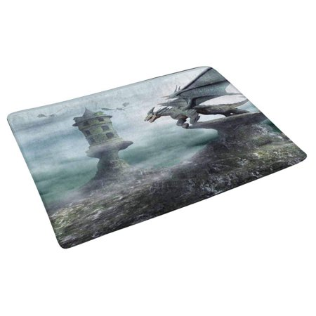 POP Tower Guarded by Dragons Indoor Doormat Latex Non Slip Door Mat Entrance Rug 30x18 inches - image 2 of 3