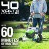 Greenworks 40V 21 in. Brushless Self-Propelled Lawn Mower with 6.0 Ah Battery and Charger, 2513602
