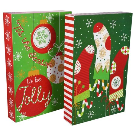 Christmas House Folded Christmas Gift Boxes, 2-ct. Pack - Green ()