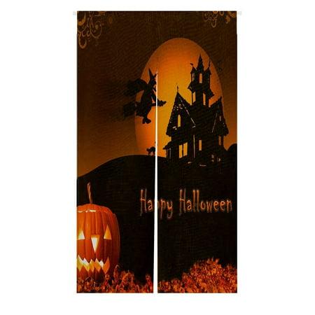 GCKG Halloween Pumpkin Doorway Curtain Japanese Noren Curtains Door Curtain Entrance Curtain Size 85x150cm - Japan Hetalia Halloween
