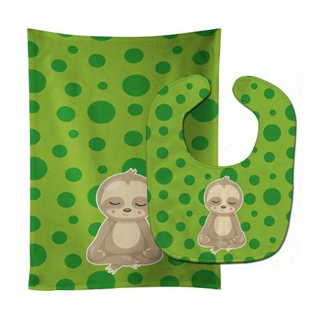 Sloth Yoga Baby Bib & Burp