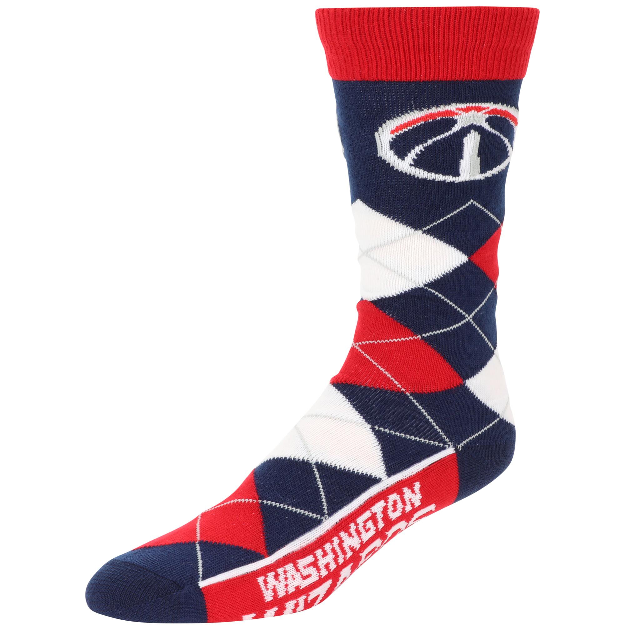 Washington Wizards For Bare Feet Team Argyle Crew Socks - No Size