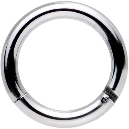 Body Candy Stainless Steel Hinged Segment Ring Circular Barbell 14 Gauge 5/16