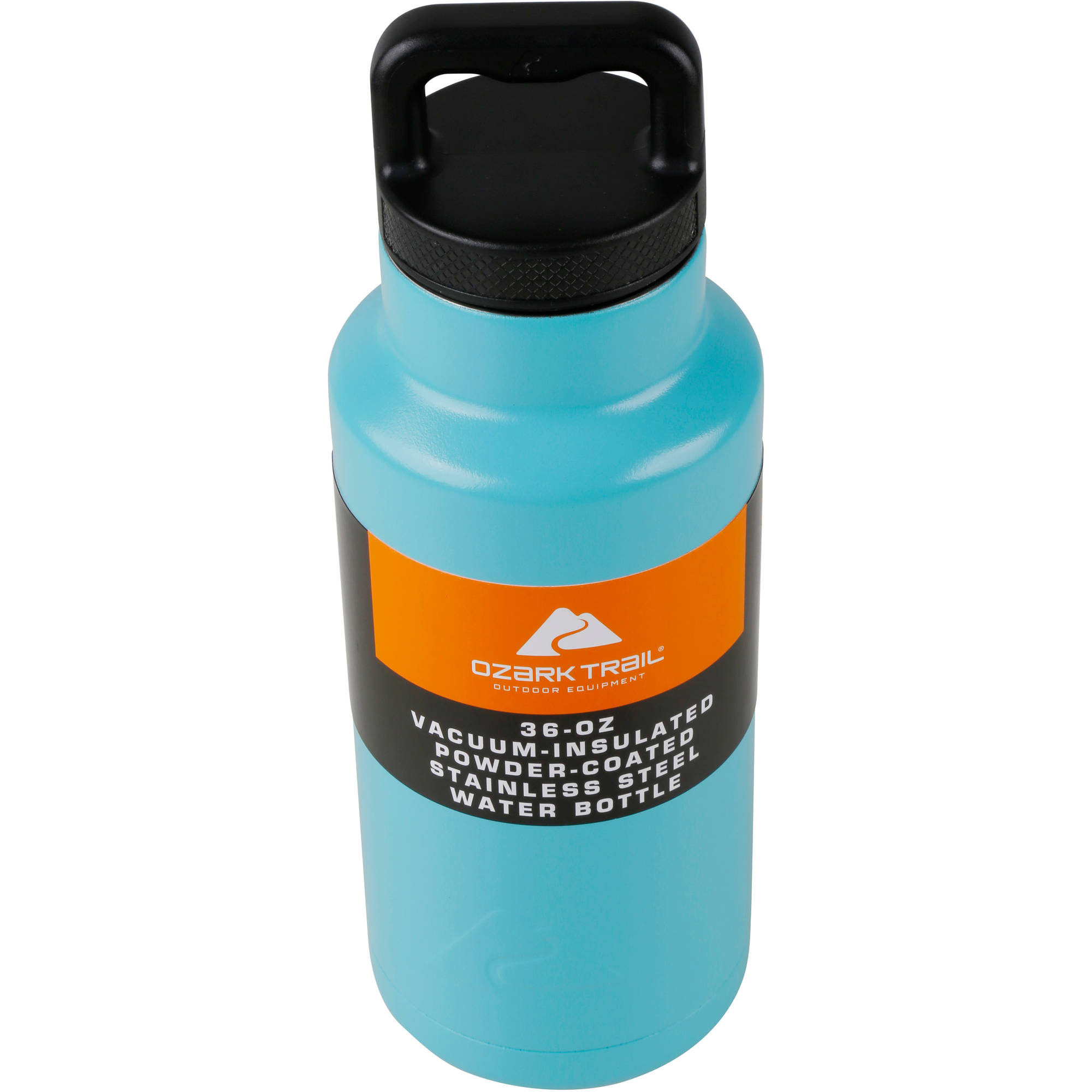 36OZ. POWDER COATED STAINLESS STEEL WATER BOTTLE-TURQUOISE