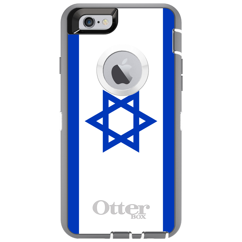 DistinctInk Custom Grey OtterBox Defender Series Case for Apple iPhone 6 Plus  ...