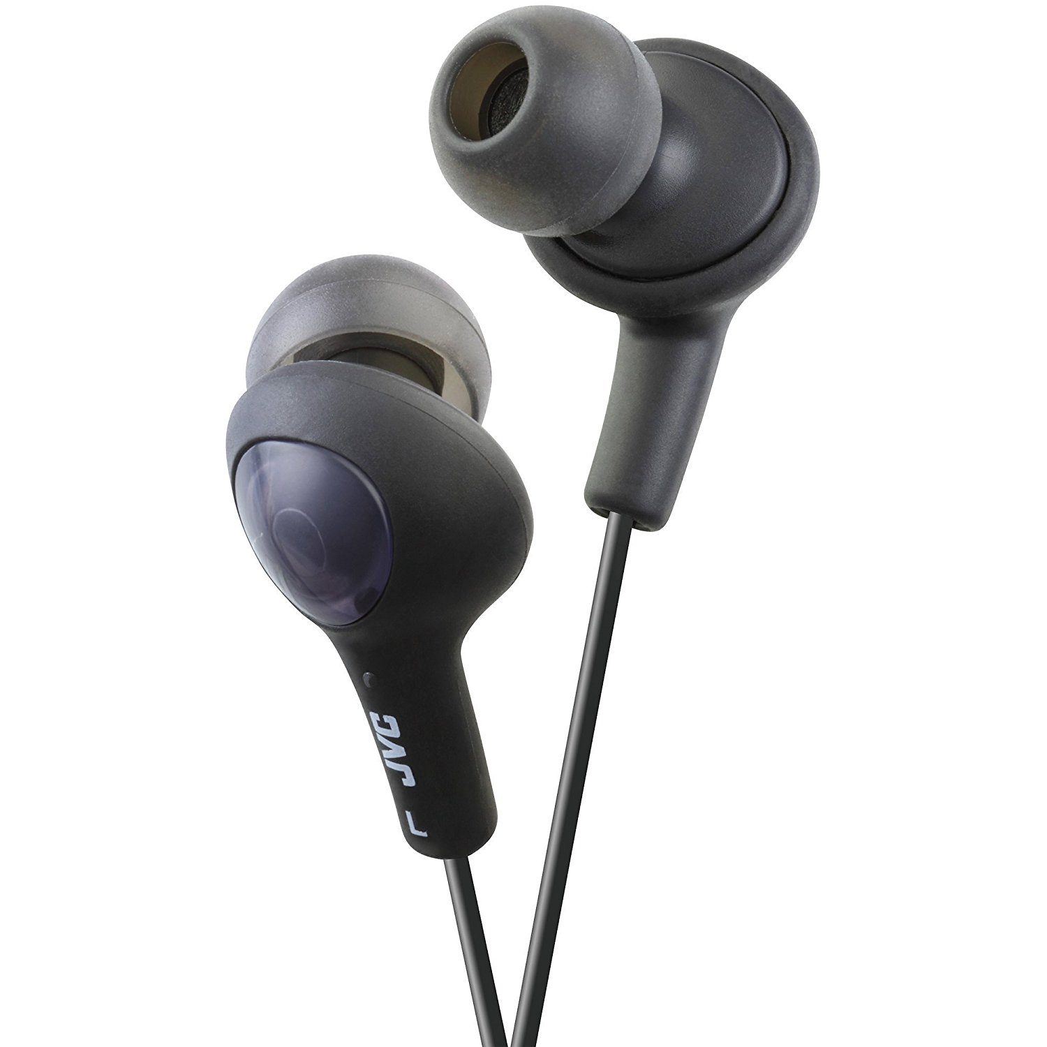JVC Gumy Plus In-Ear Earbud Headphones with Microphone, Black, HA-FX65M-B (Non-Retail Packaging)