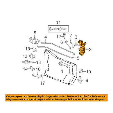 Jeep CHRYSLER OEM 07-16 Wrangler Front Door-Lock Latch Kit 4589504AH ...