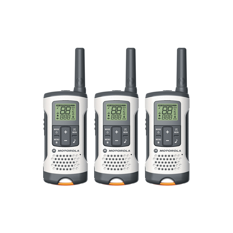 motorola talkabout. motorola talkabout t261tp two-way radio (set of 3), white