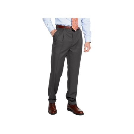 Croft&Barrow Mens No-Iron Microfiber Dress Slacks, grey, 29W x 30L Iron Works T-shirt