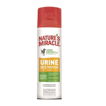 Nature's Miracle Dog Urine Destroyer Foam 17.5 oz, (Best Product For Dog Urine Smell)