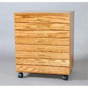 SMI TB800-MO Oak Taboret, 8-Drawer, Vanguard, Medium Oak Finish