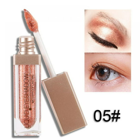 Acenx Liquid Eye Shadow, Shimmer Glitter Nude Metals Glow Eyeshadow Palette Waterproof Lasting Highlighter Beauty Makeup #5