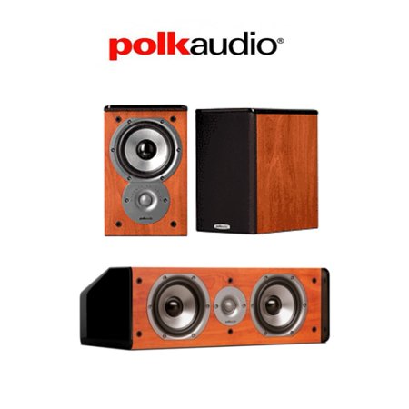 Polk Audio TSi100 Bookshelf Speakers Pair With A CS10 Center Channel Speaker