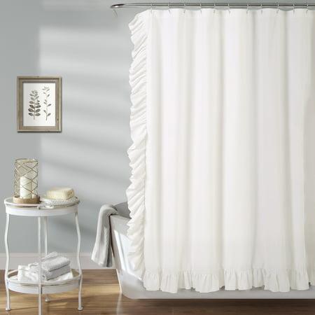 Reyna Shower Curtain White, 72