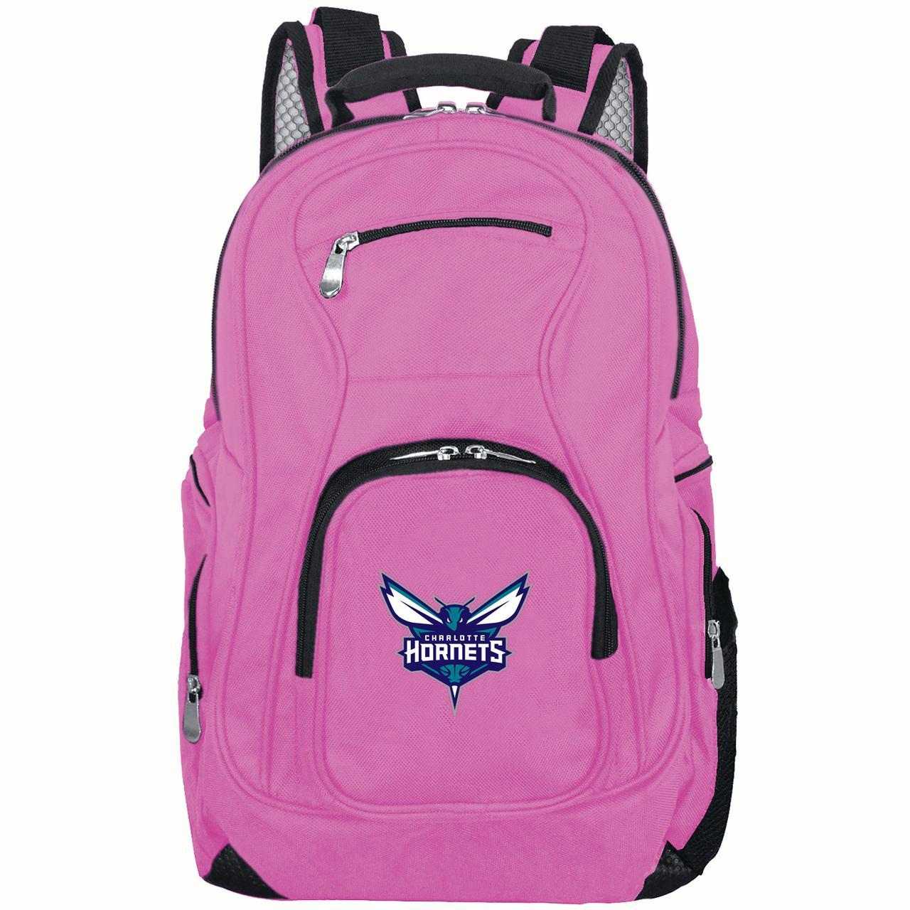 NBA Charlotte Hornets Pink Premium Laptop Backpack