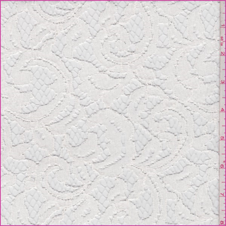 Winter White Scroll Lace, Fabric By the Yard](Winter Lace)