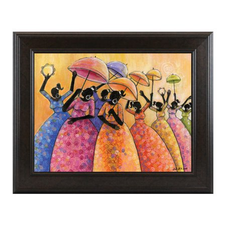 Image of African American Expressions Praise Framed Painting Print