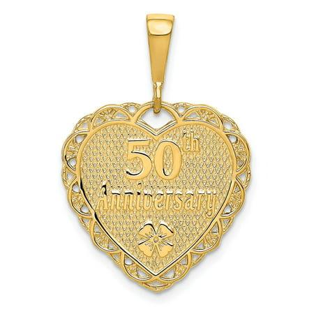 14k Yellow Gold 50th Anniversary Charm