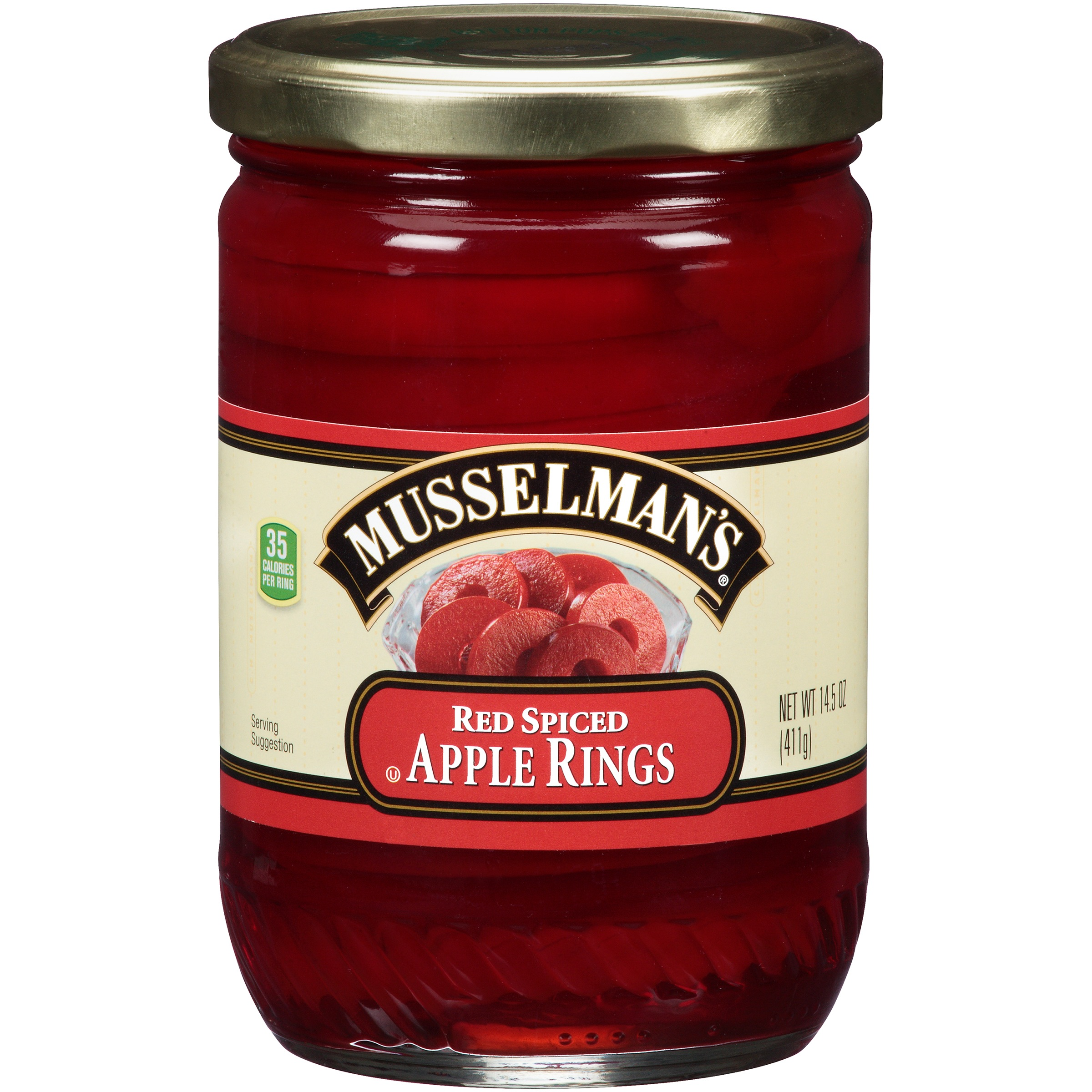 Musselman's Red Spiced Apple Rings 14.5 oz. Jar by Knouse Foods